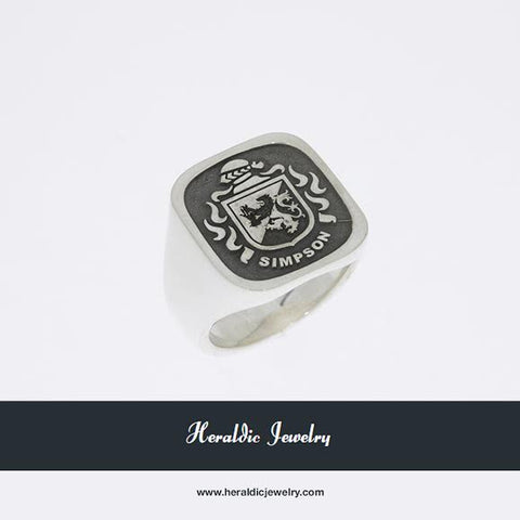 Simpson family crest ring