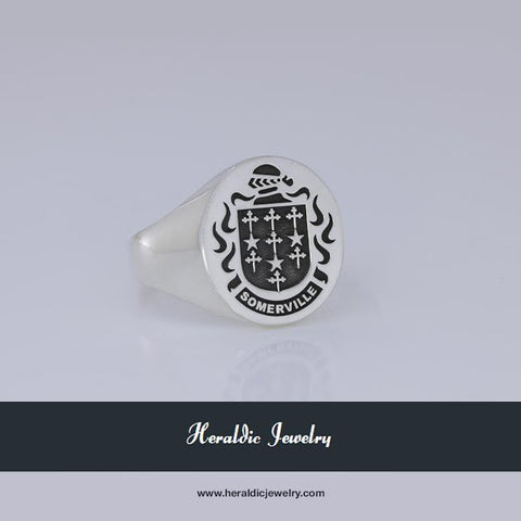 Somerville family crest ring