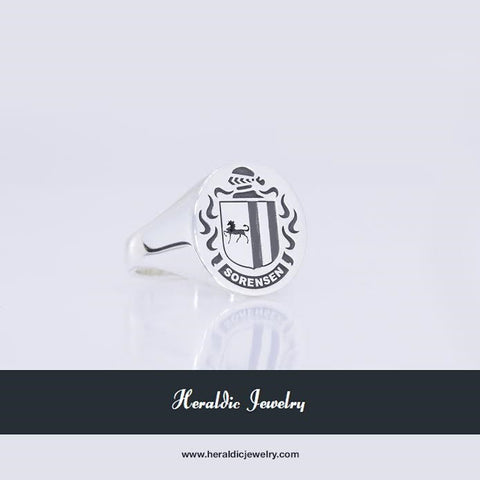 Sorensen family crest ring