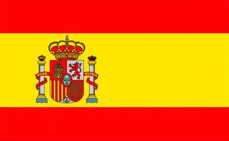 Spanish flag and coat of arms