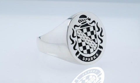 Sparks silver crest ring