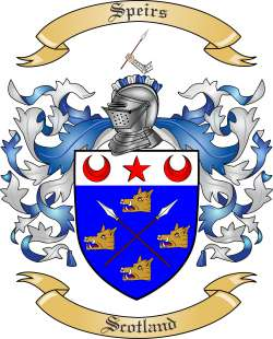 Speirs family crest