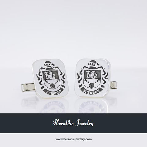 Sperber family crest cufflinks