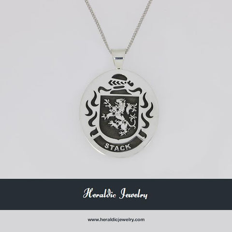 Stack family crest pendant