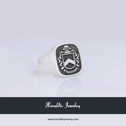 Stafford family crest ring