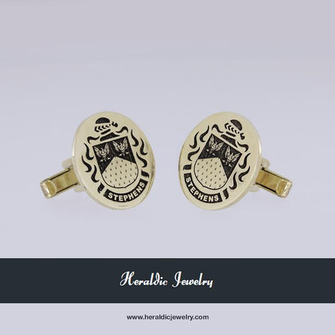 Stephens family crest cufflinks