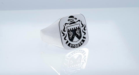 Stoots family crest ring