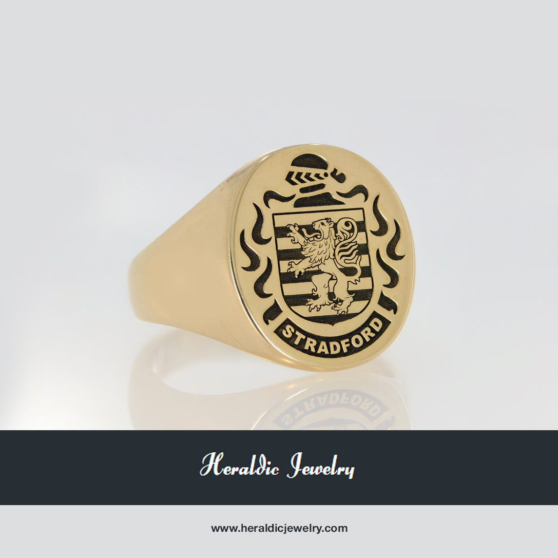Stradford family crest ring