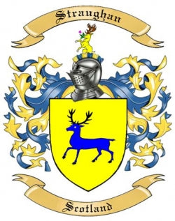 Straughan family crest