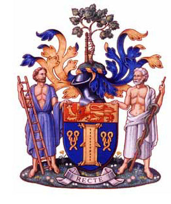 Coat of arms with supporters
