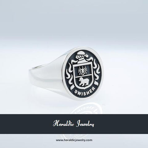 Swisher family crest ring