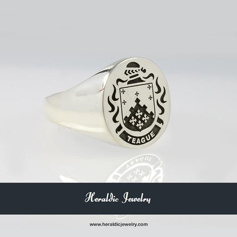 McTague family crest ring