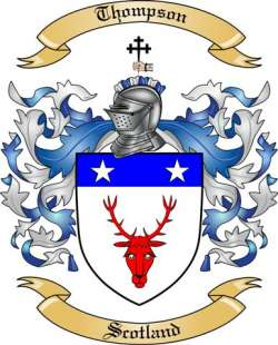 Thompson family crest Scotland