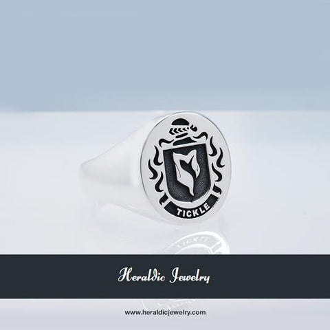 Tickle family crest ring