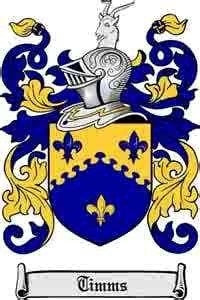 Timms family crest