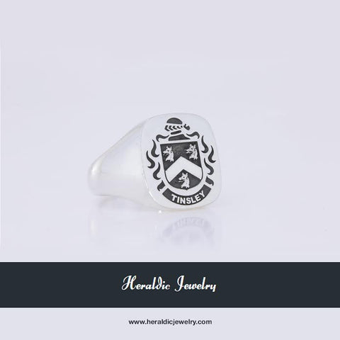 Tinsley family crest ring