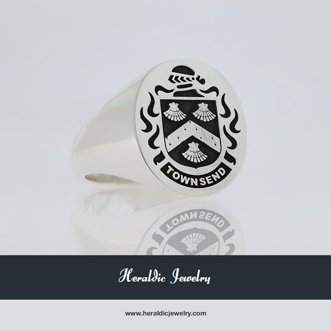 Townsend family crest ring