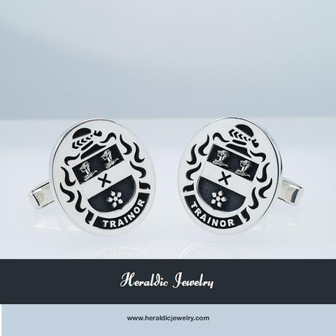 Trainor family crest cufflinks