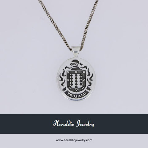 Trujillo family crest necklace