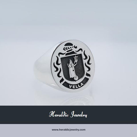 Vella family crest ring