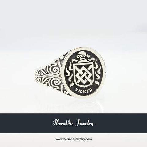 Vicker family crest ring