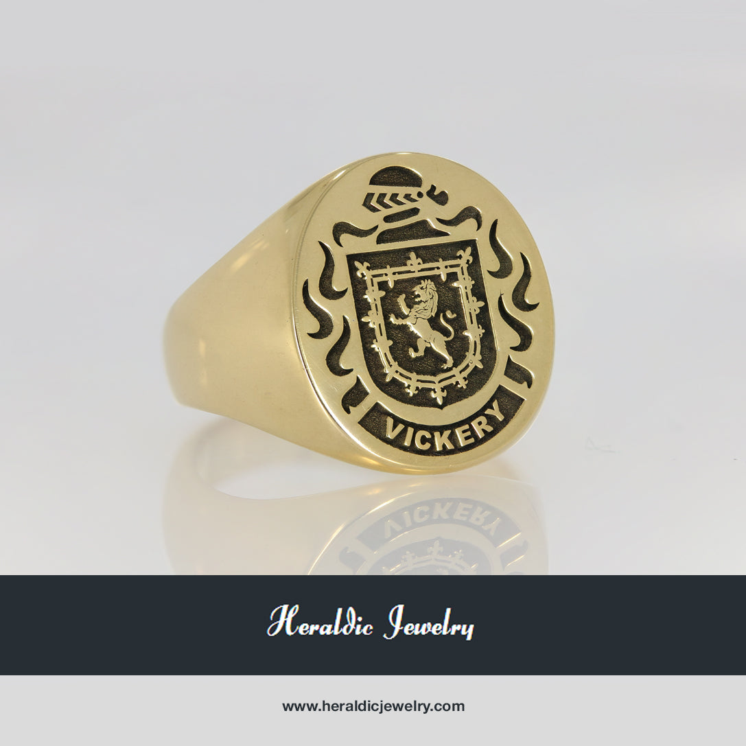 Vickery family crest ring
