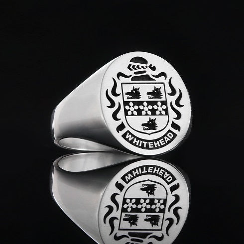 Whitehead family crest ring