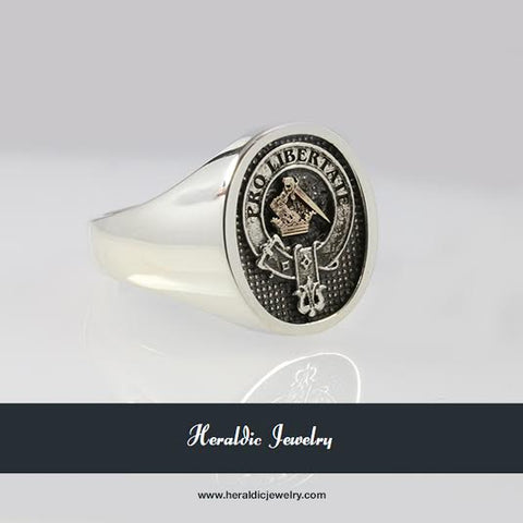 Wallace clan crest ring
