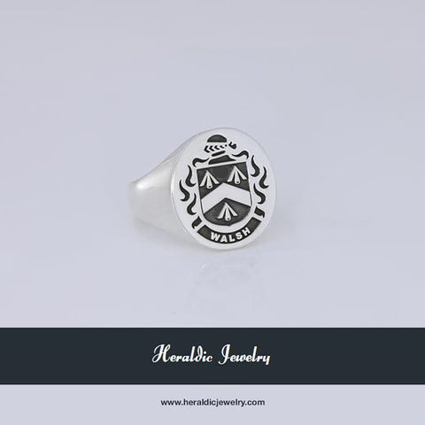 Walshe family crest ring