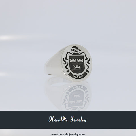 Ward family crest ring