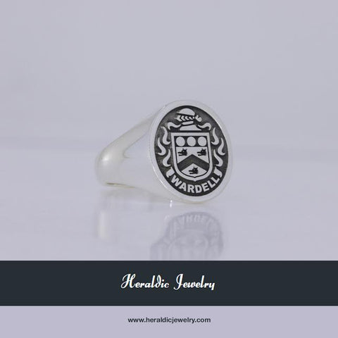 Wardell family crest ring