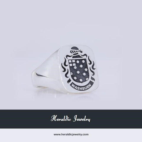 Washburn family crest ring