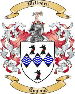 Wellborn family crest
