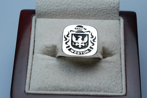 Weston family crest ring
