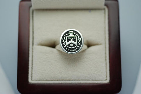 Wheeler family crest ring