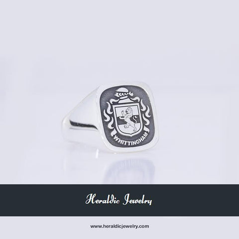 Whittingham family crest ring