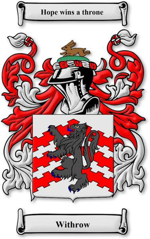 Withrow family crest
