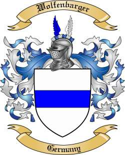Wolfenbarger family crest
