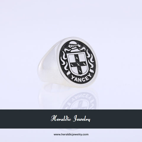 Yancey family crest ring