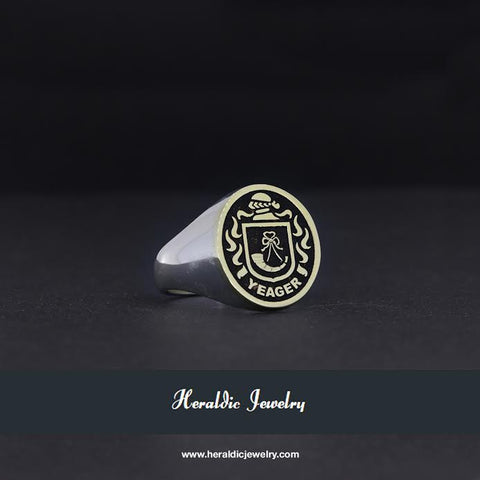 Yeager family crest ring