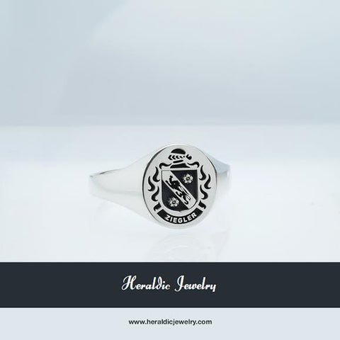 Ziegler family crest ring