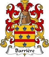 Barriere family crest
