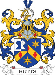 Butts family crest