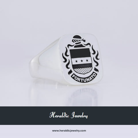 Fortunato family crest ring