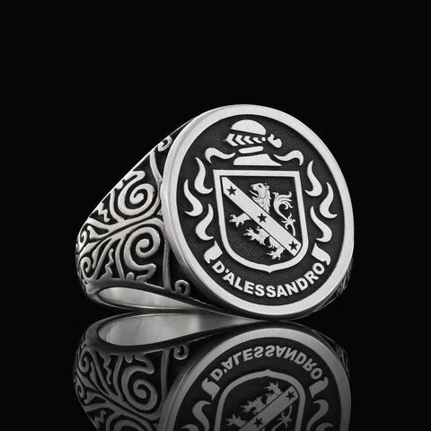 Raised Ladies Crest Ring