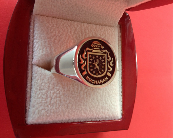 14KT Gold & Silver Crest Ring