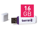 TERRA USB-Stick USBee USB 2.0 16 GB 14/4 white