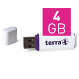TERRA USB-Stick USBee USB 2.0 4 GB 14/4 white