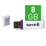 TERRA USB-Stick USBee USB 2.0 8 GB 14/4 white
