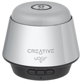 Creative Lautsprecher WOOF Mini Speaker Bluetooth Chrome / Silver
